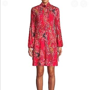 Free People | high neck open back red dress new